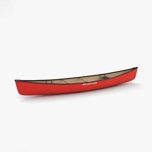 3D canoe model