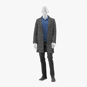 realistic mannequin coat 5 model