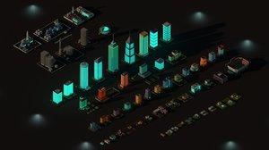 buildings city 3D model
