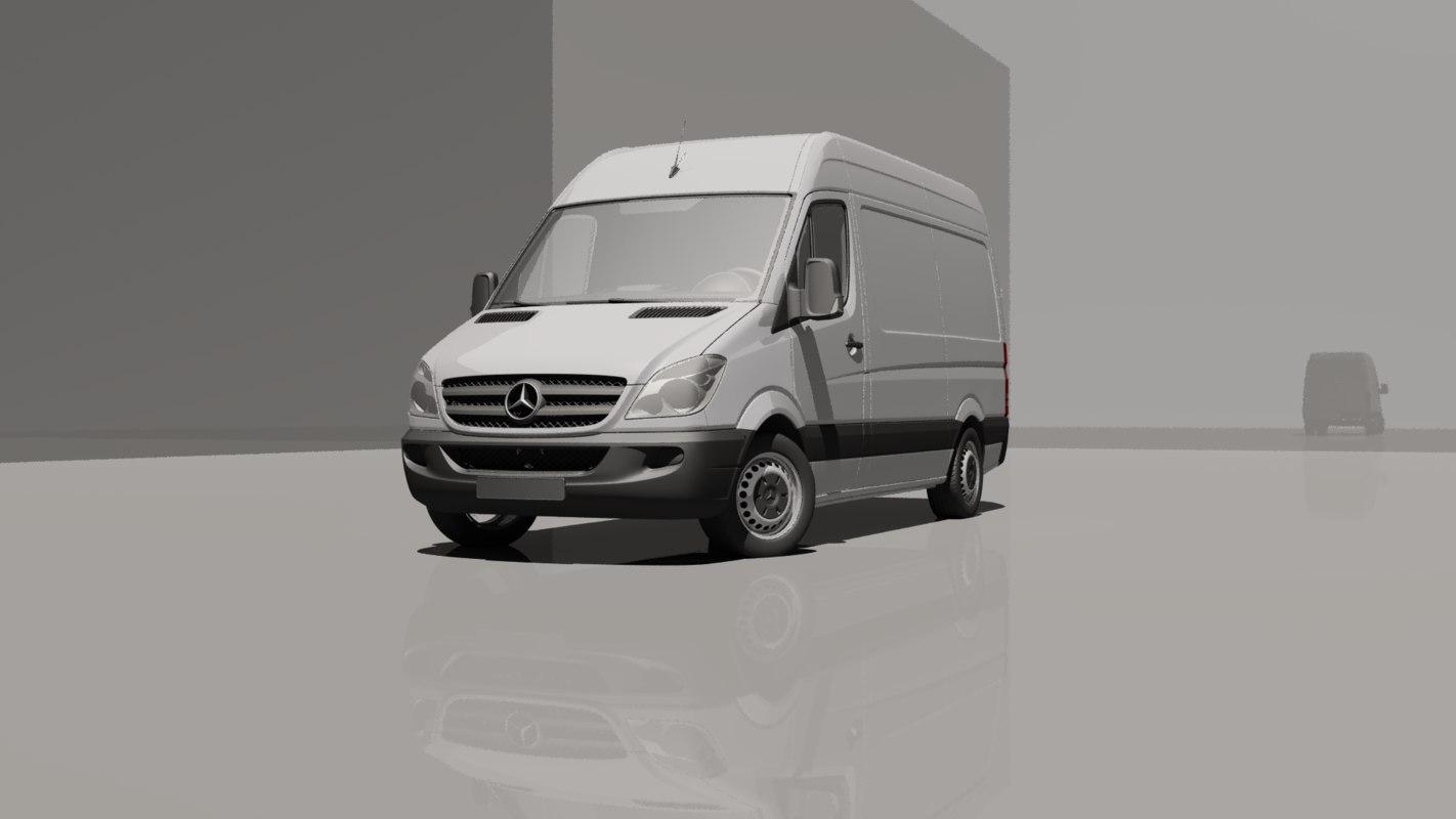 Nieuw Mercedes-benz sprinter l2h2 van 3D model - TurboSquid 1408461 ZB-05
