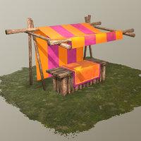 3D market medieval model
