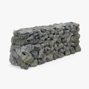 block stone wall model
