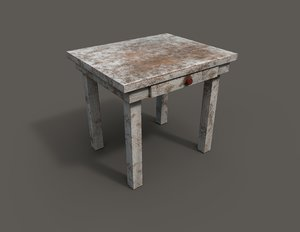 3D model old table