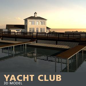 yacht club 3D model