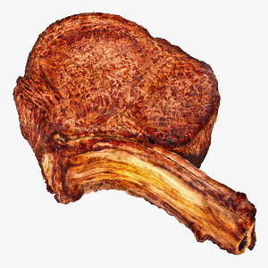 3D beef ribeye steak bone