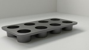 3D muffin tin pan