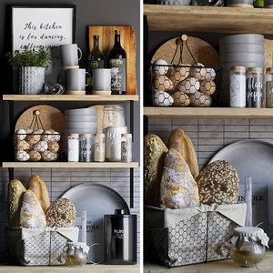 kitchen set decor 3D