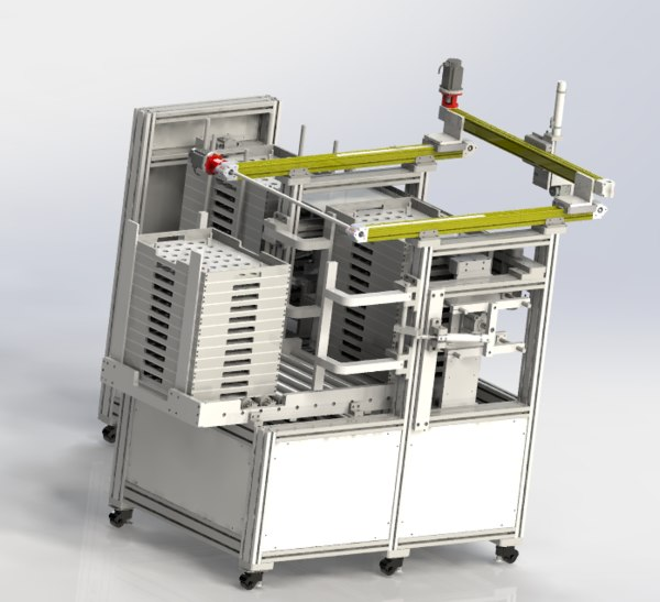 machine stacking 3D model