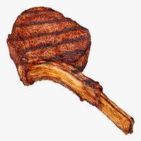 BBQ Tomahawk Steak 3D Model