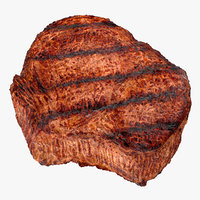 grilled flank steak 3D model