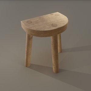 3D legged stool 3