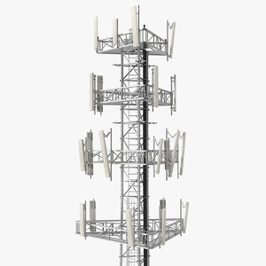 cell phone tower 2 3D model