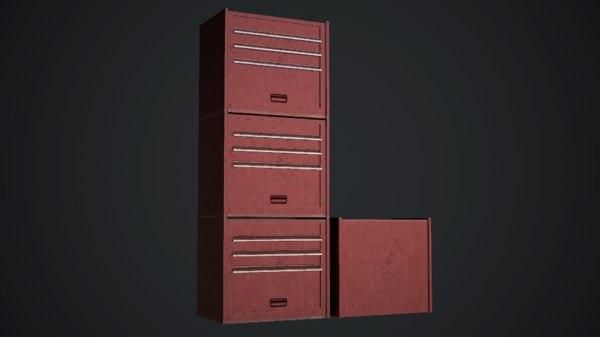 tool storage unit 3D model