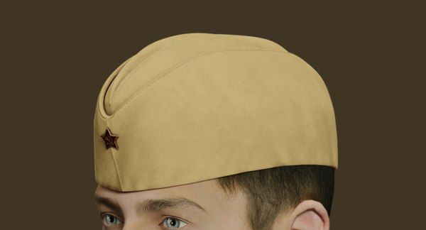 3D model classical military soviet soldier