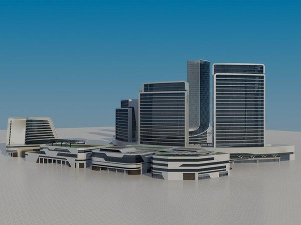 3D futuristic skyscrapers 5