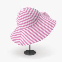3D pink bucket hat
