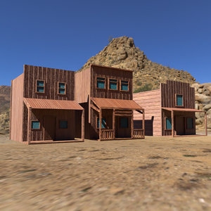 unreal western town wild west 3D model