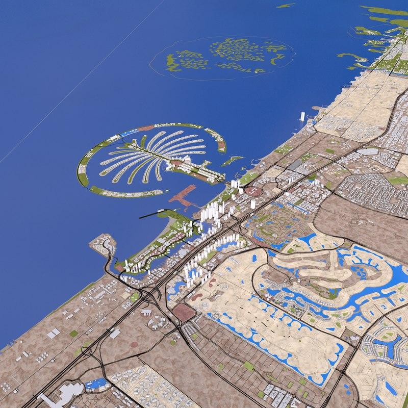 dubai city buildings 3D model