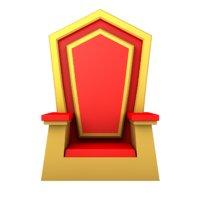 3D cartoon throne
