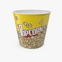 big popcorn bucket popped model