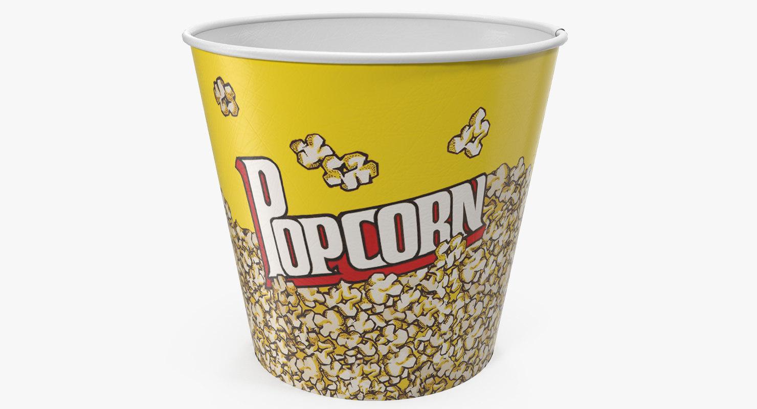 Empty Big Popcorn Bucket