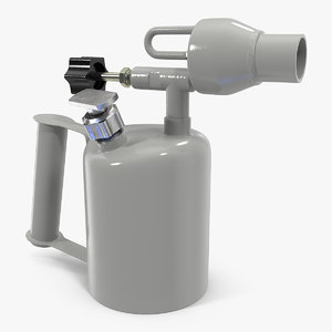 3D gasoline blowtorch lamp