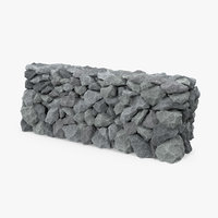 grey stone wall 3D model