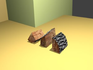 3D model piece wood