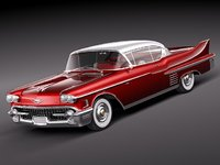 cadillac 1958 coupe 3D