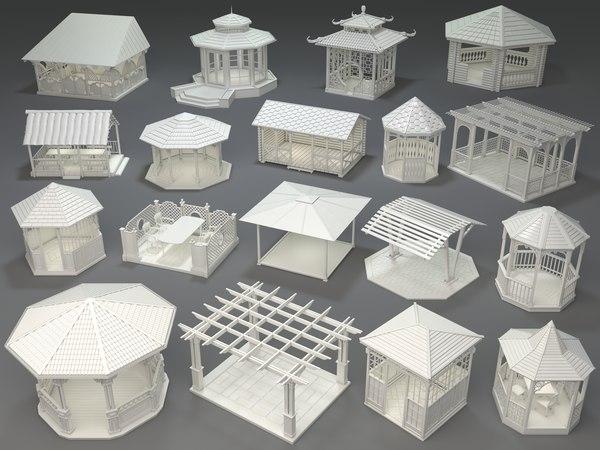 arbors 18 pieces 3D