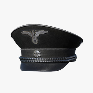 3D german hat ww2 pbr model