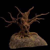 3D tree fantasy druid