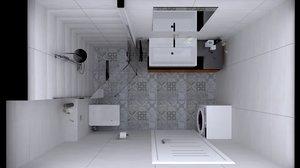 3D model bathrooms