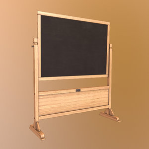 chalkboard engine pbr 3D