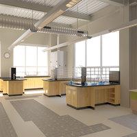 Chemistry Lab Interior Scene