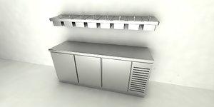 staurant preparation cabinet 3D model