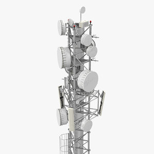 cellular tower site 3 3D model