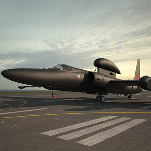 3D model lockheed u-2s