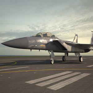 3D mcdonnell douglas f-15