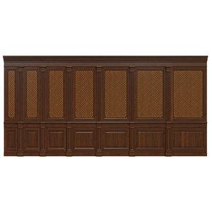 3D wooden panels veneer wall model