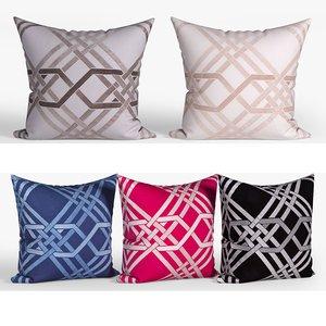 decorative pillows set 073 3D model
