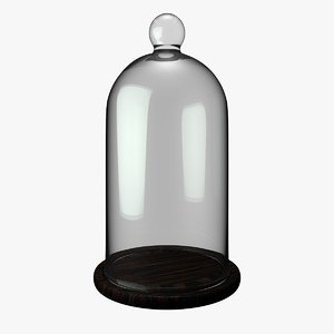 antique bell jar 3D