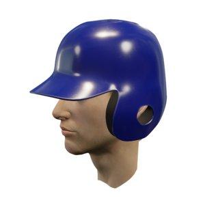baseball batting helmet ear 3D model