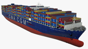 container ship cma jean 3D