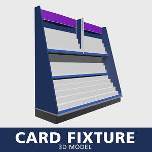 card fixture 3D model