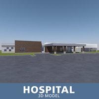 3D hospital entrance windows