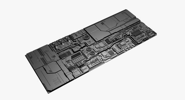3D panels spaceships model
