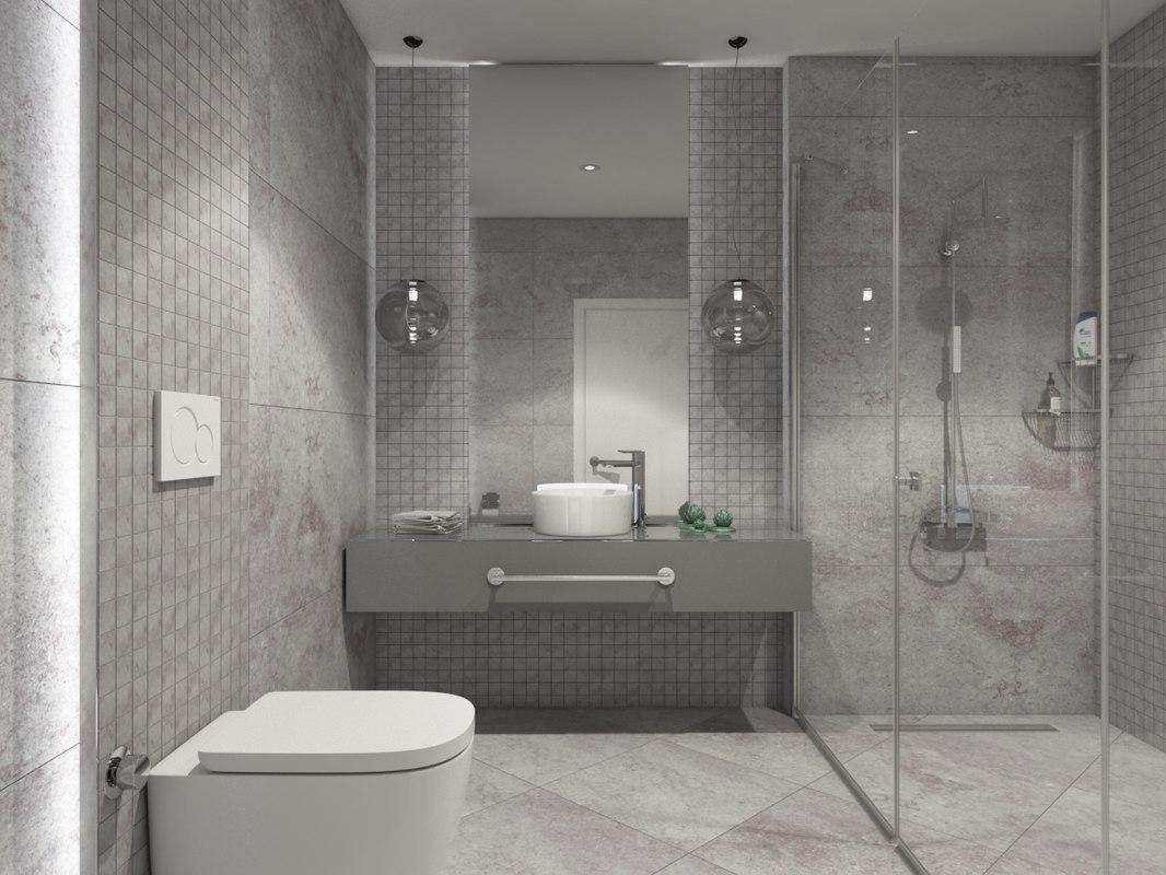 3d Bathroom Design Turbosquid 1408784
