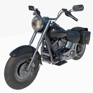 motorcycle realistic 3D model