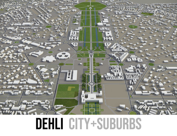 city dehli surrounding - model